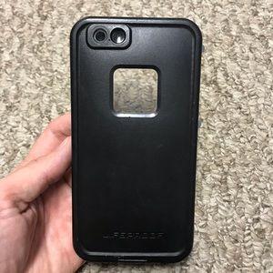 iPhone 6 6s lifeproof fre phone case black